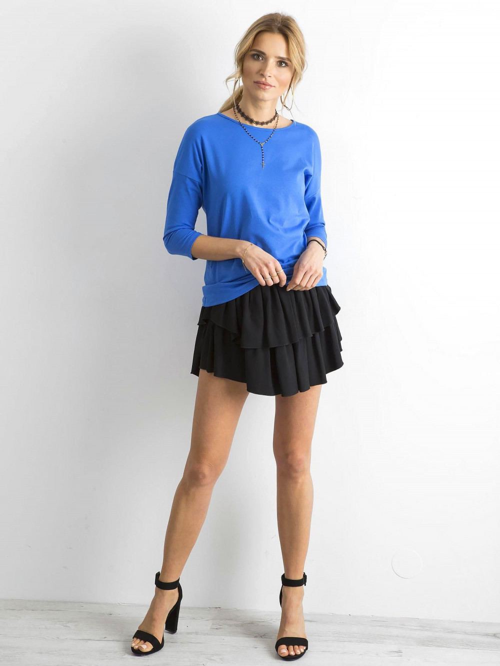 Niebieska gładka bluzka Summer 3