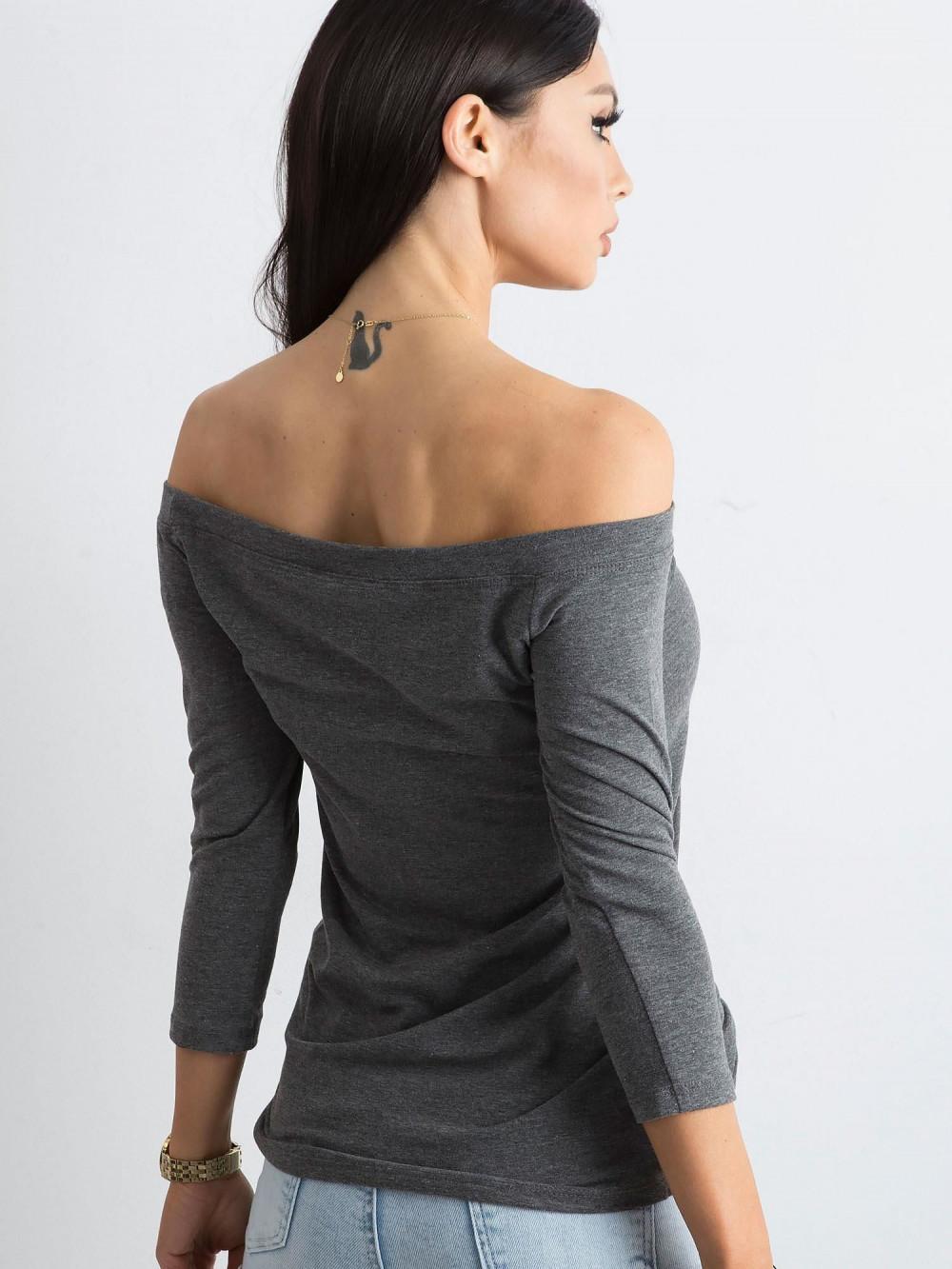 Ciemnoszara bluzka off-shoulder Vienne 4