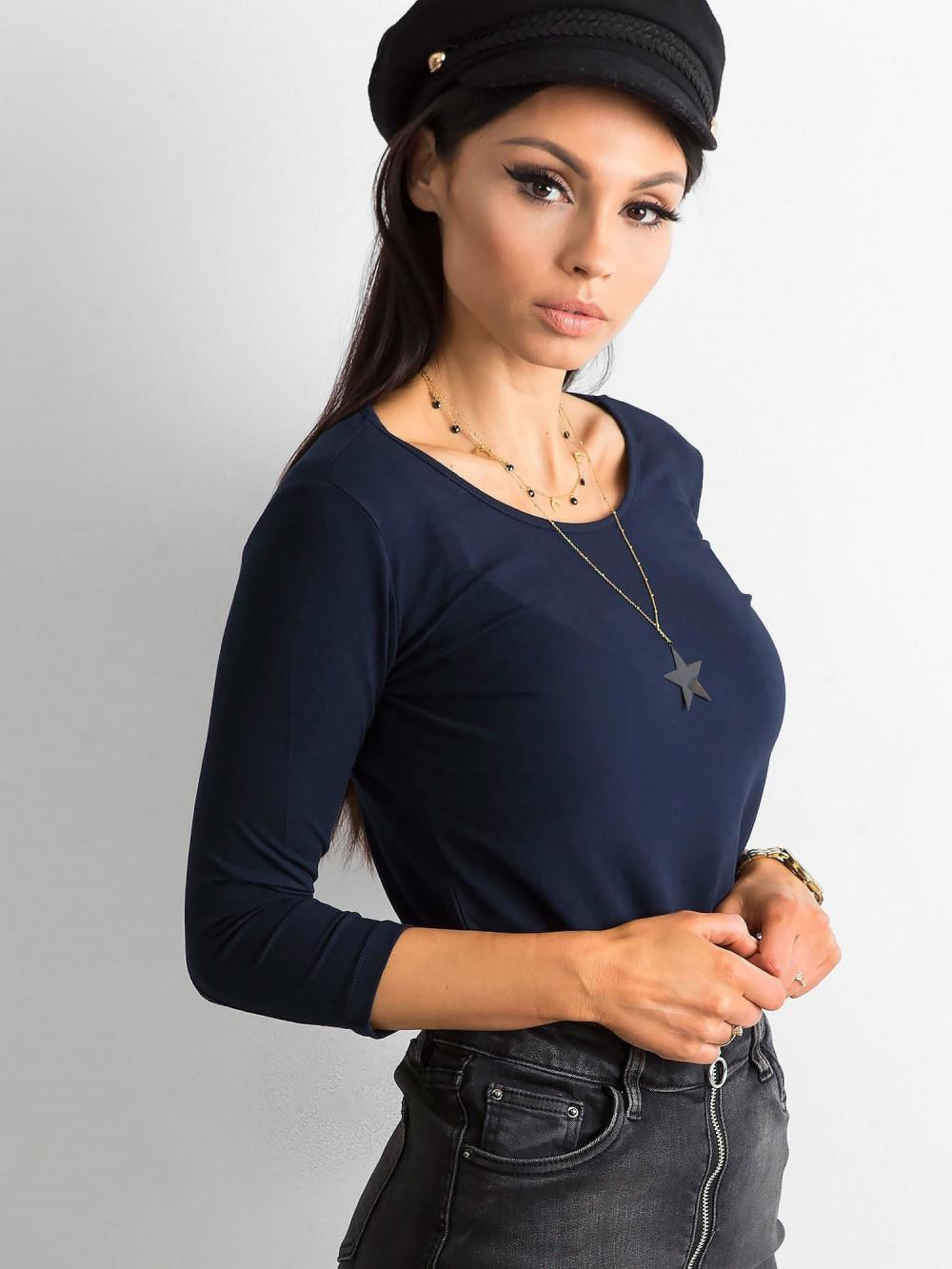Granatowa bluzka O-Neck Sara 2