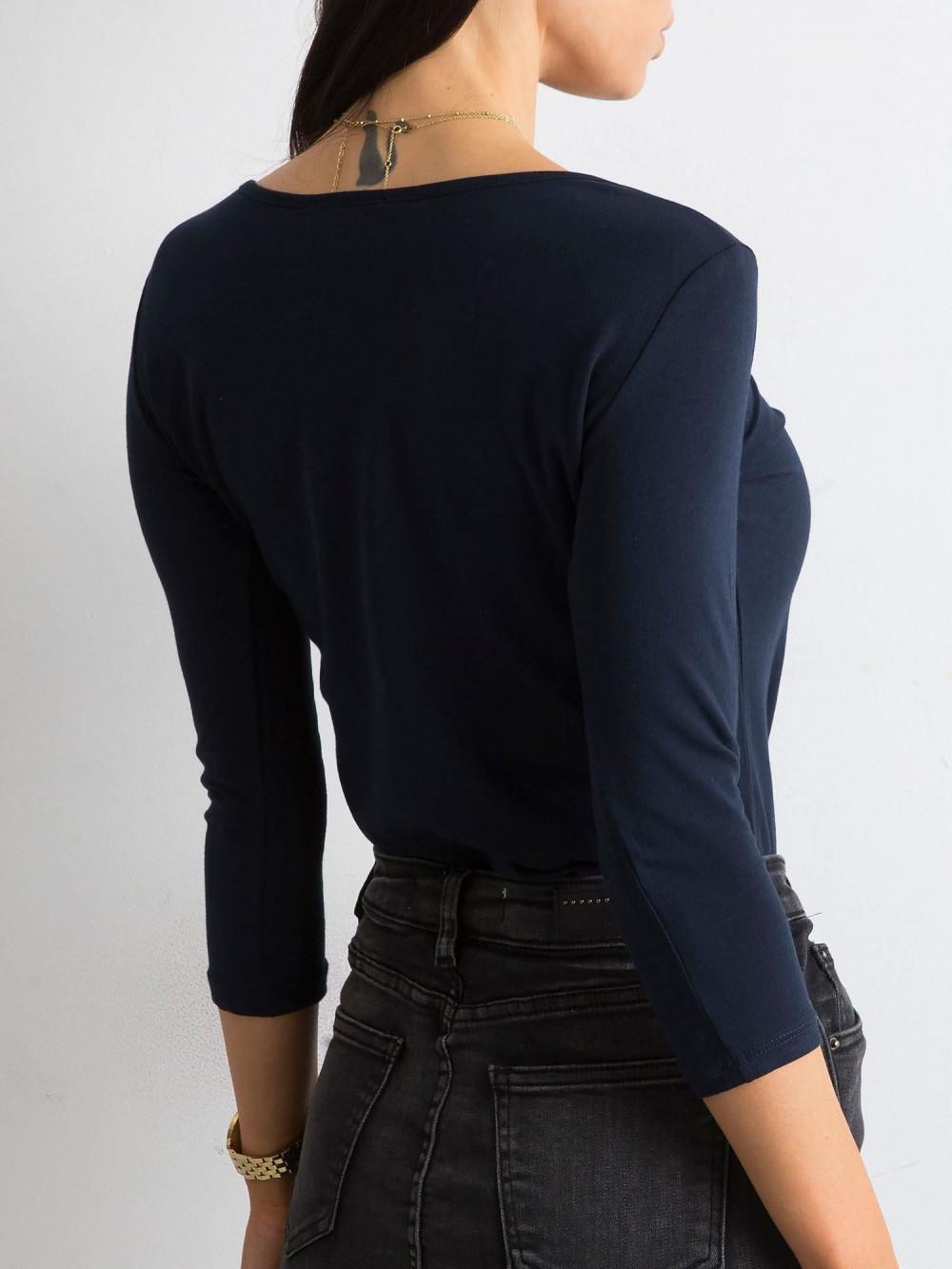 Granatowa bluzka O-Neck Sara 4