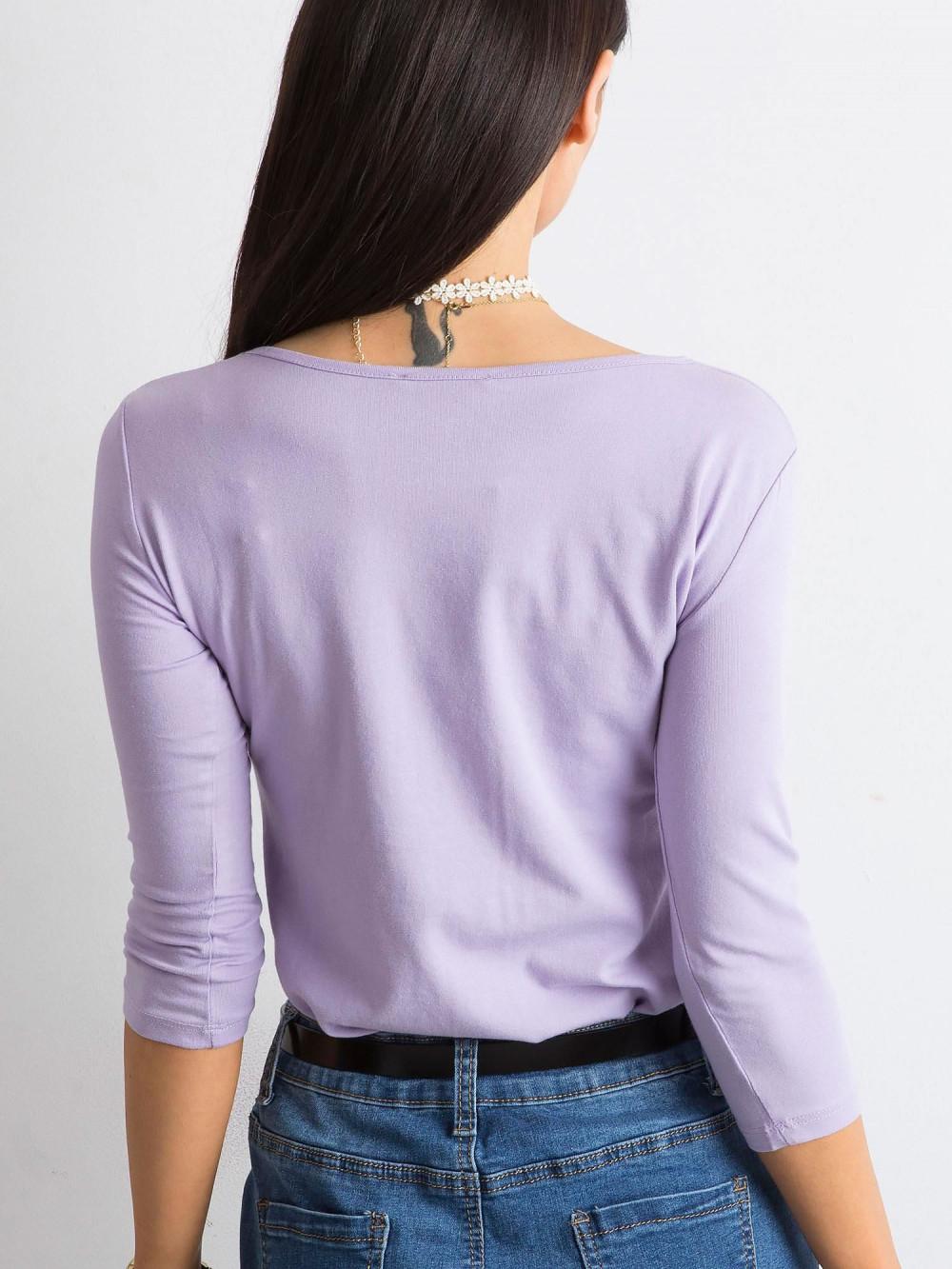 Fioletowa bluzka O-Neck Sara 4
