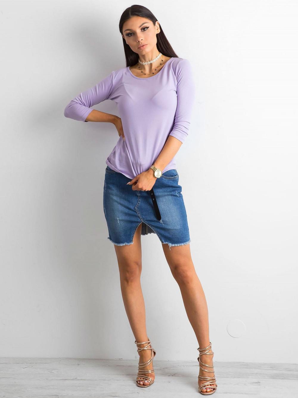 Fioletowa bluzka O-Neck Sara 3