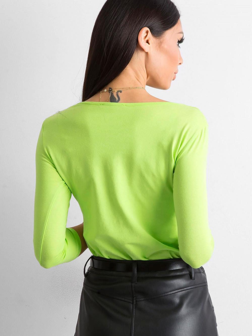 Jasnozielona bluzka O-Neck Sara 4