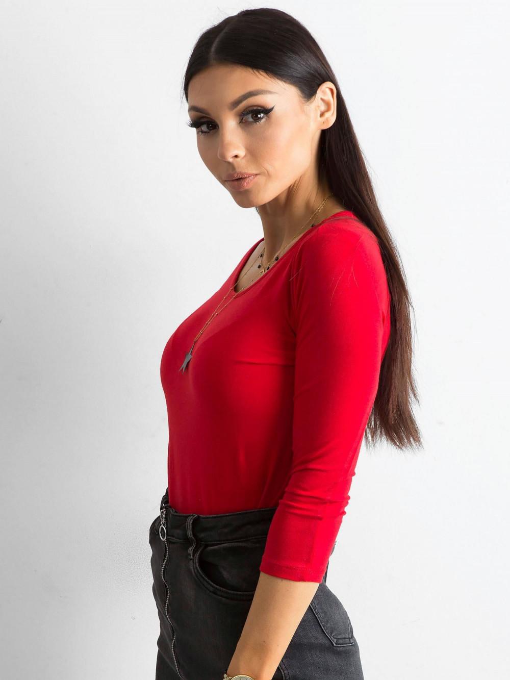 Czerwona bluzka O-Neck Sara 2