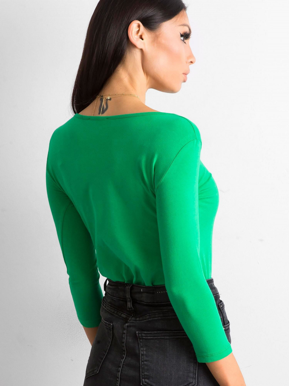 Zielona bluzka O-Neck Sara 4