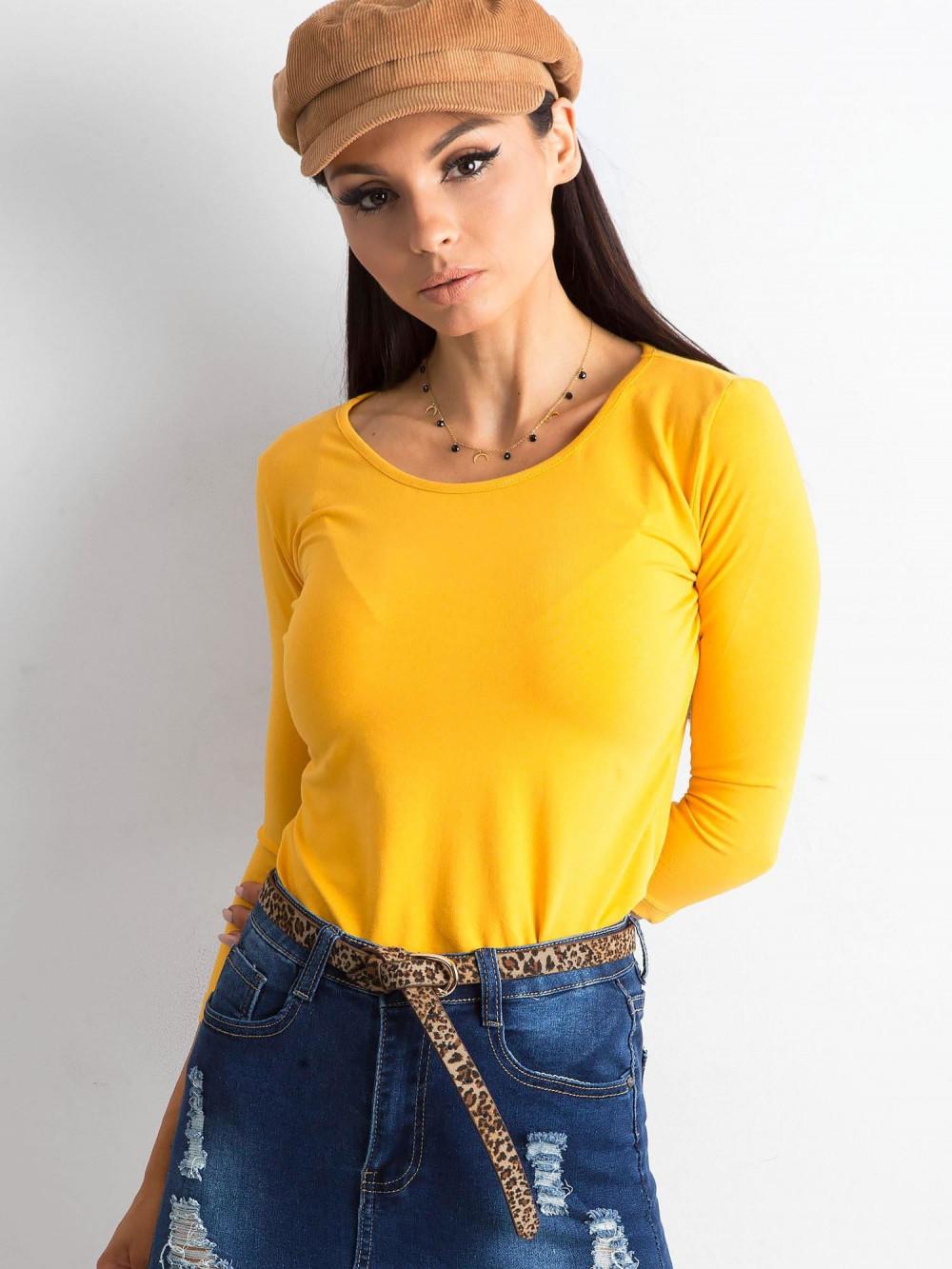 Ciemnożółta bluzka O-Neck Sara 1