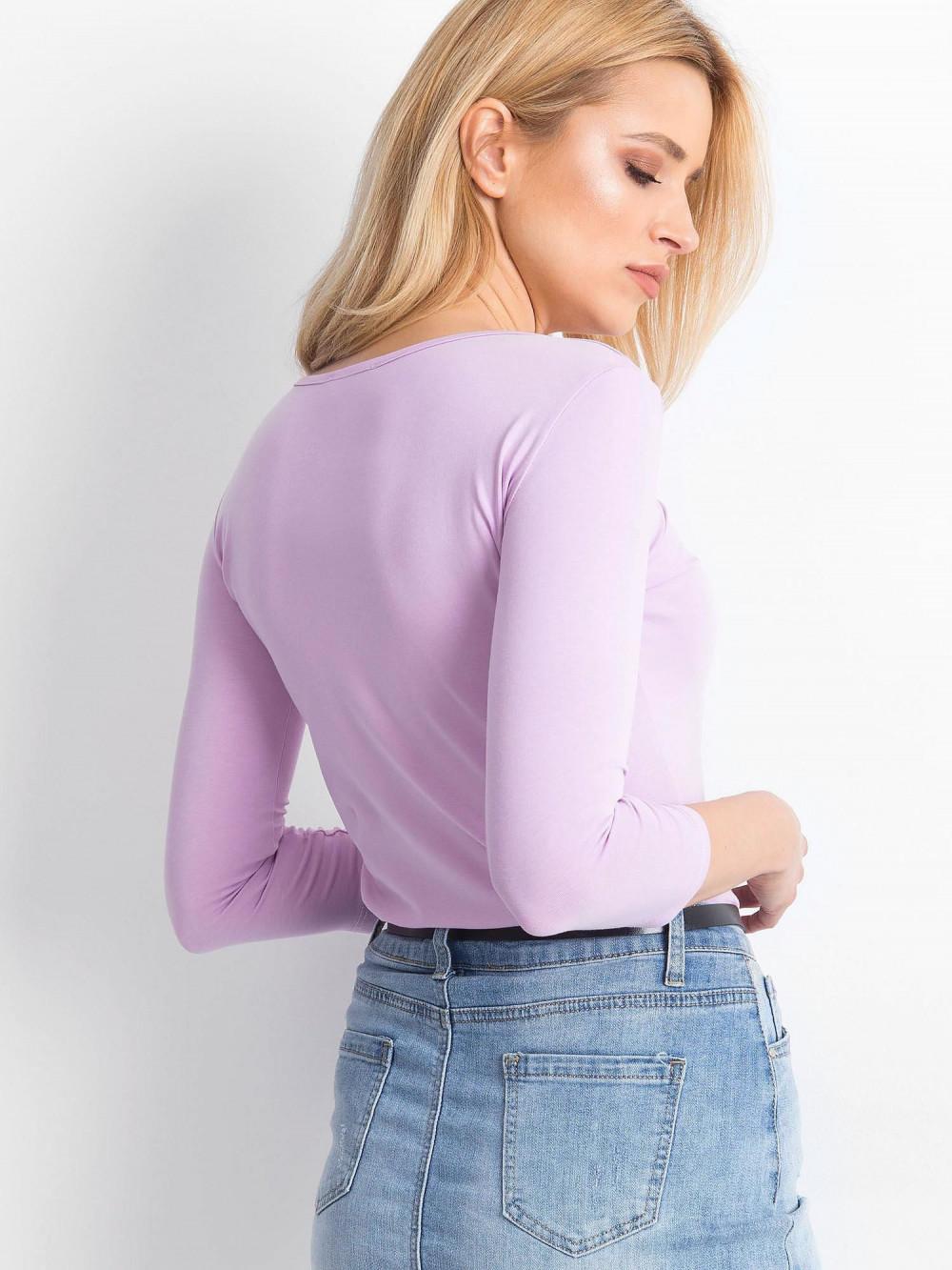 Jasnofioletowa bluzka O-Neck Sara 4