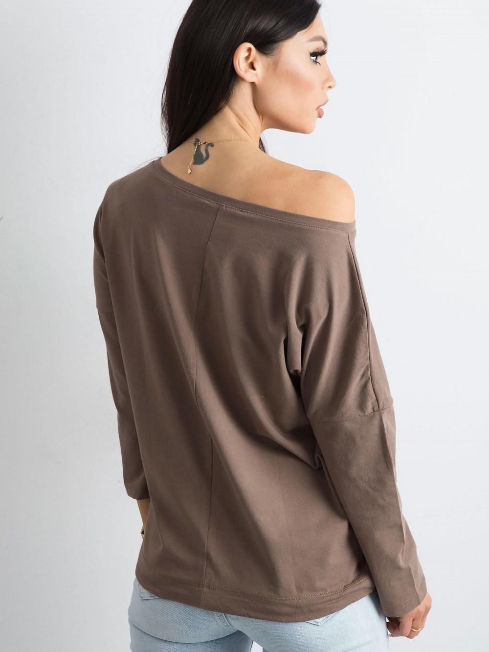 Brązowa bluzka ze ściągaczem Taurus 4