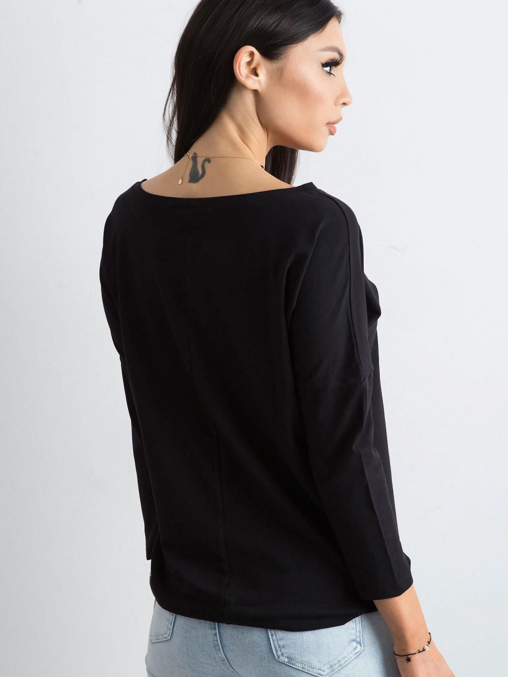 Czarna bluzka ze ściągaczem Taurus 5