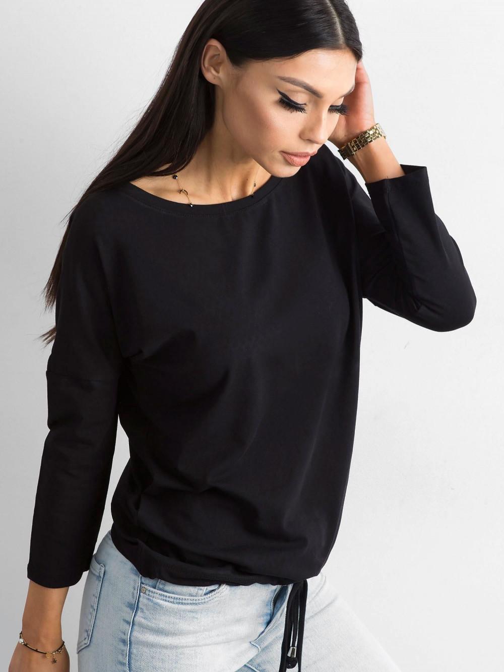 Czarna bluzka ze ściągaczem Taurus 3