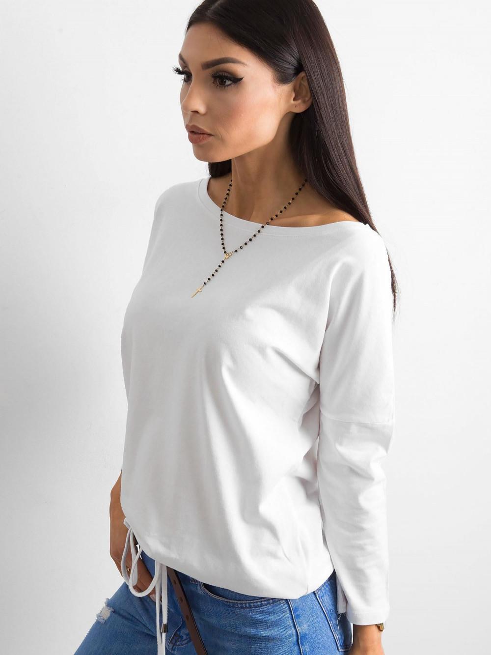 Biała bluzka ze ściągaczem Taurus 2