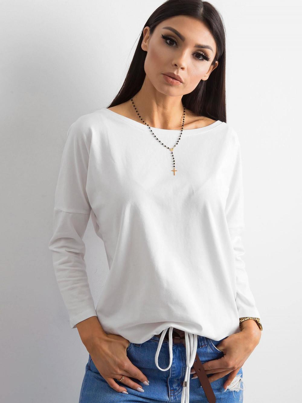 Biała bluzka ze ściągaczem Taurus 1