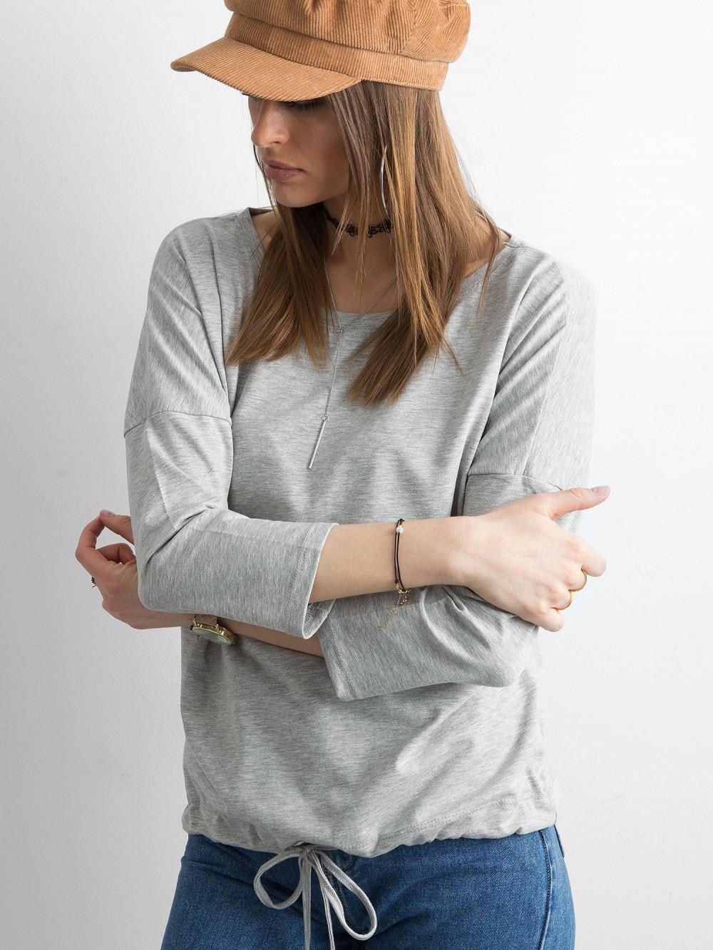 Szara melanżowa bluzka ze ściągaczem Taurus 2