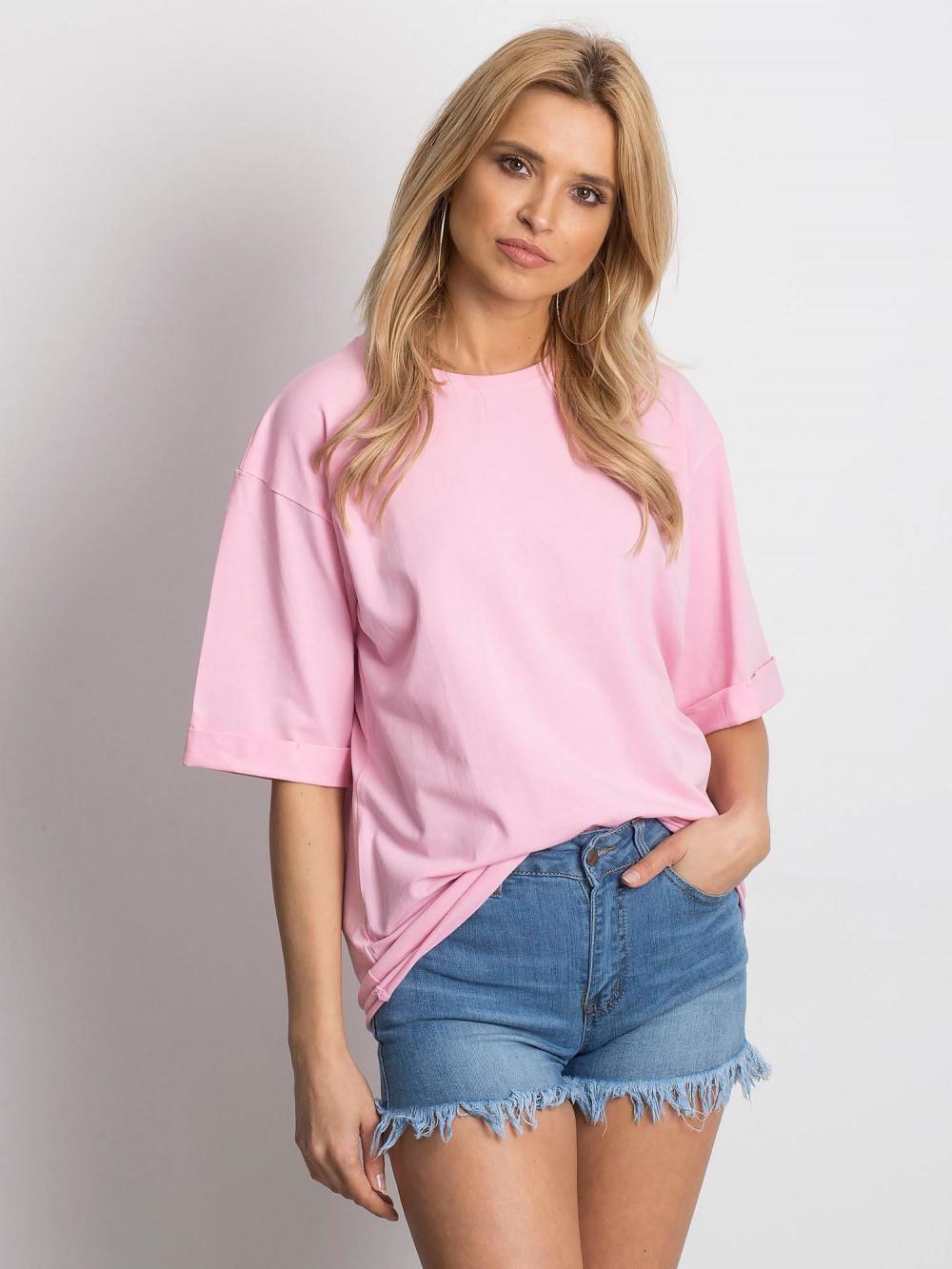 Różowy oversizeowy t-shirt Gimmie 1
