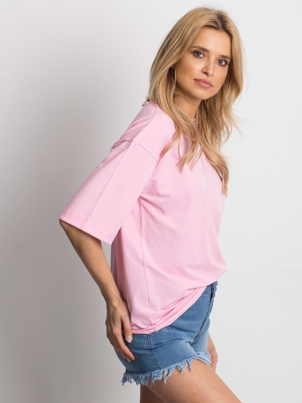Różowy oversizeowy t-shirt Gimmie 2