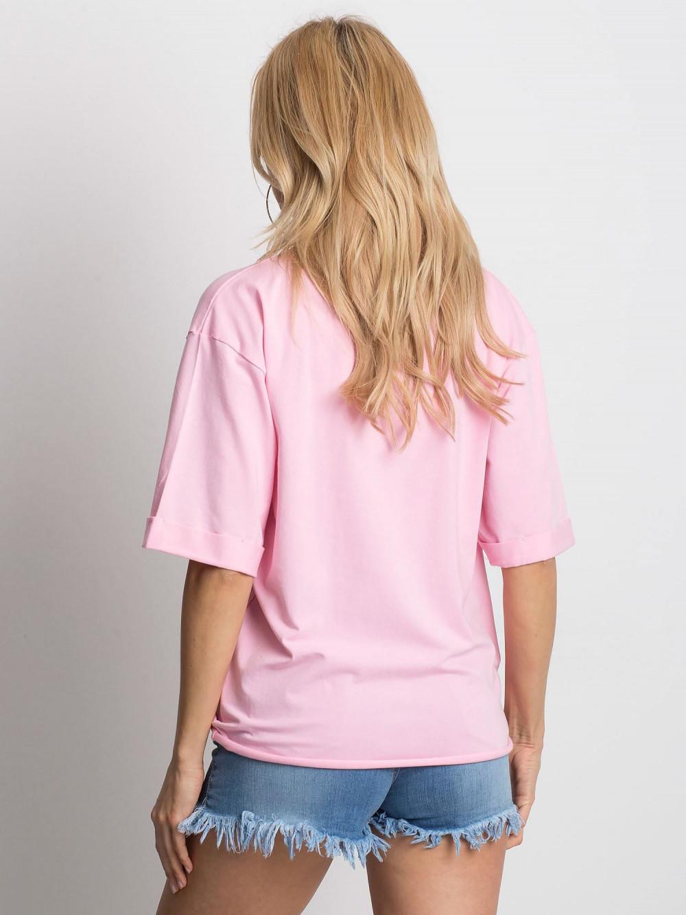 Różowy oversizeowy t-shirt Gimmie 4