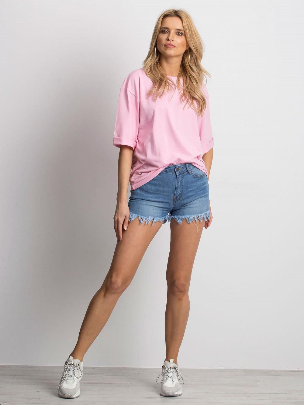 Różowy oversizeowy t-shirt Gimmie 3