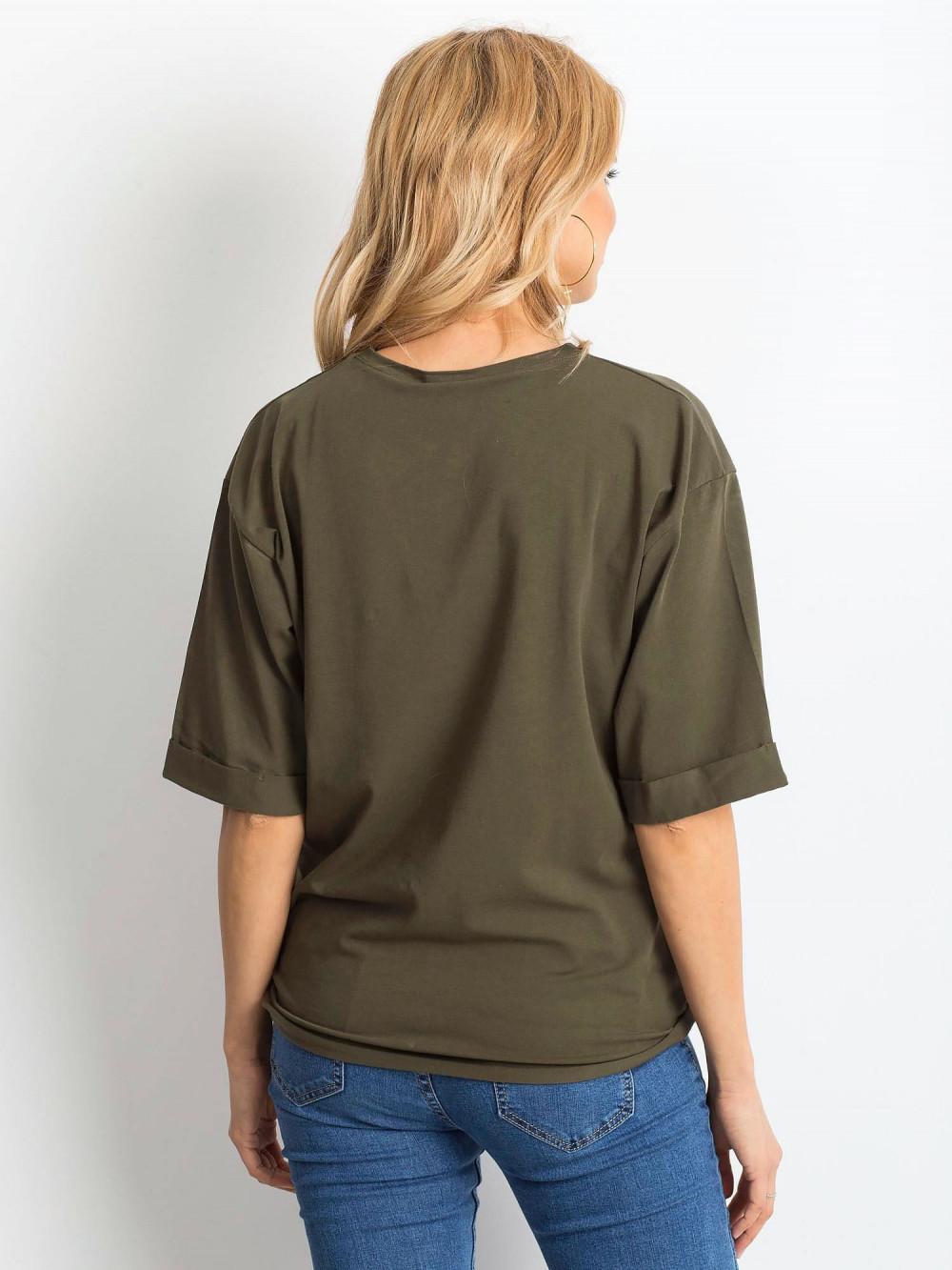 Khaki oversizeowy t-shirt Gimmie 4