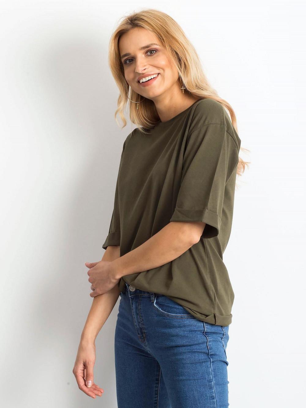 Khaki oversizeowy t-shirt Gimmie 2