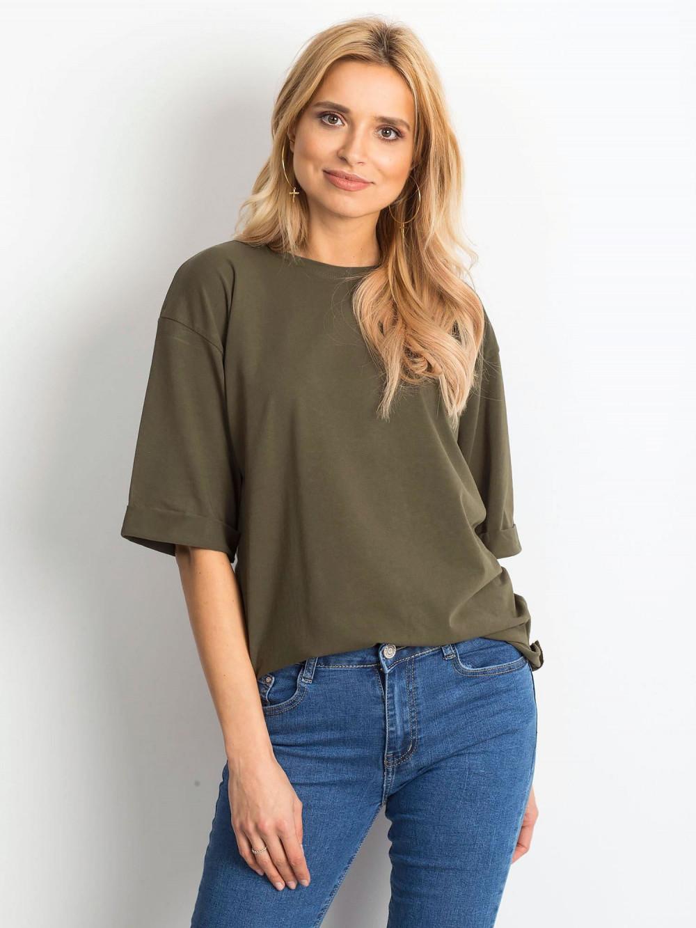 Khaki oversizeowy t-shirt Gimmie 1