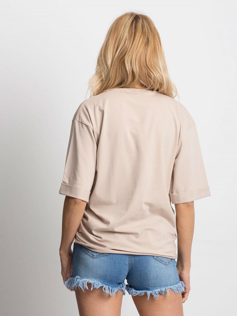 Jasnokawowy oversizeowy t-shirt Gimmie 4