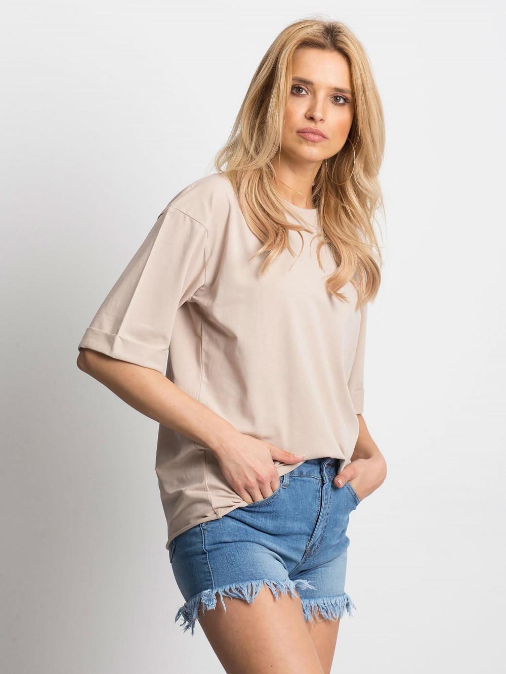 Jasnokawowy oversizeowy t-shirt Gimmie 2