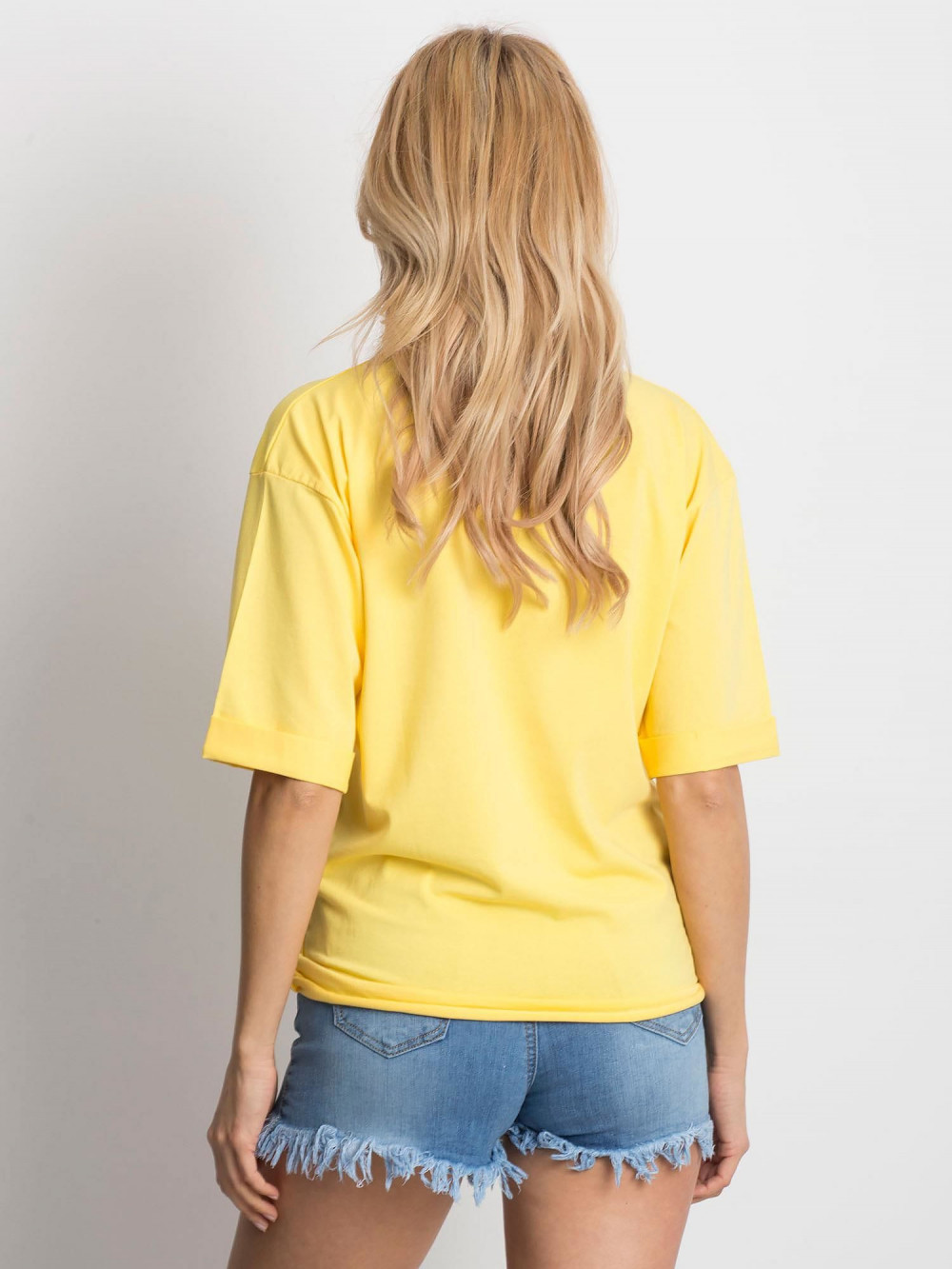 Żółty oversizeowy t-shirt Gimmie 4