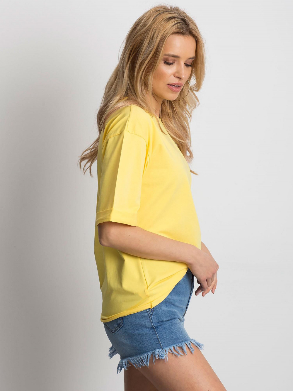 Żółty oversizeowy t-shirt Gimmie 2