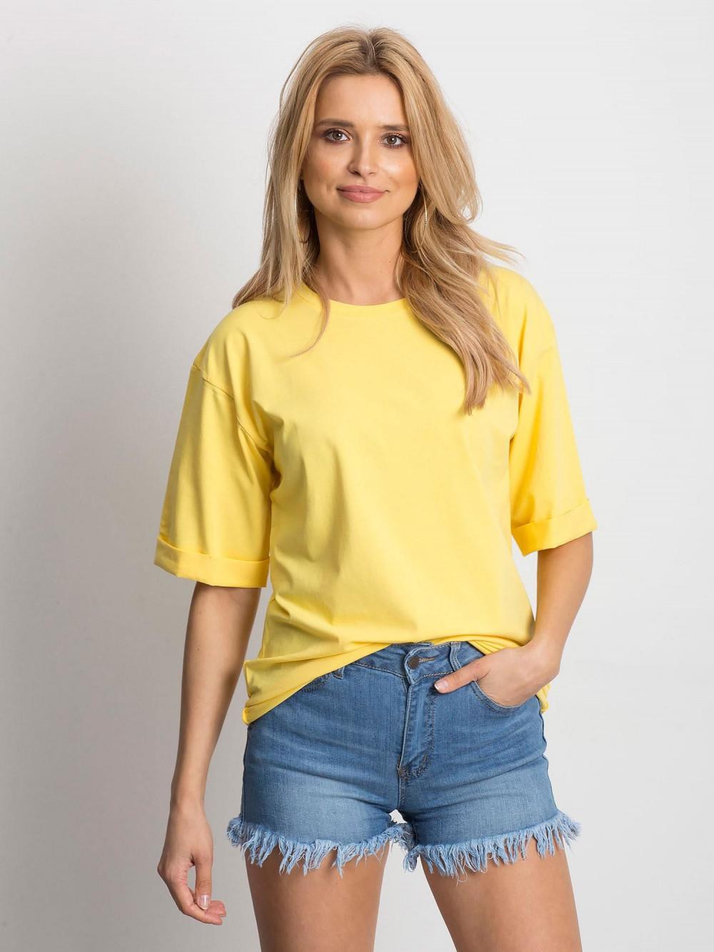 Żółty oversizeowy t-shirt Gimmie 1