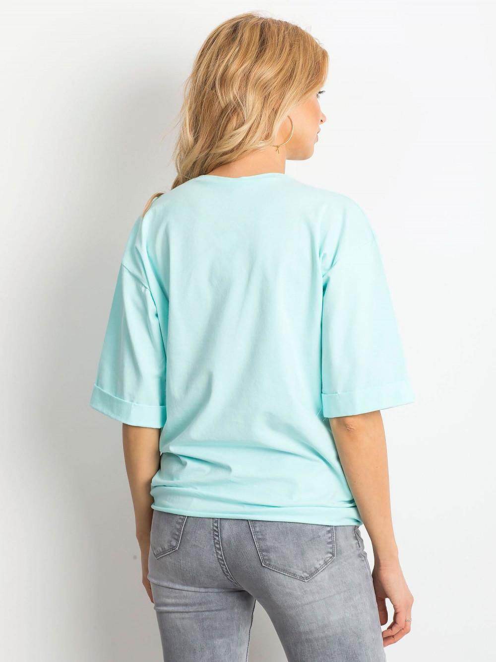Miętowy oversizeowy t-shirt Gimmie 4