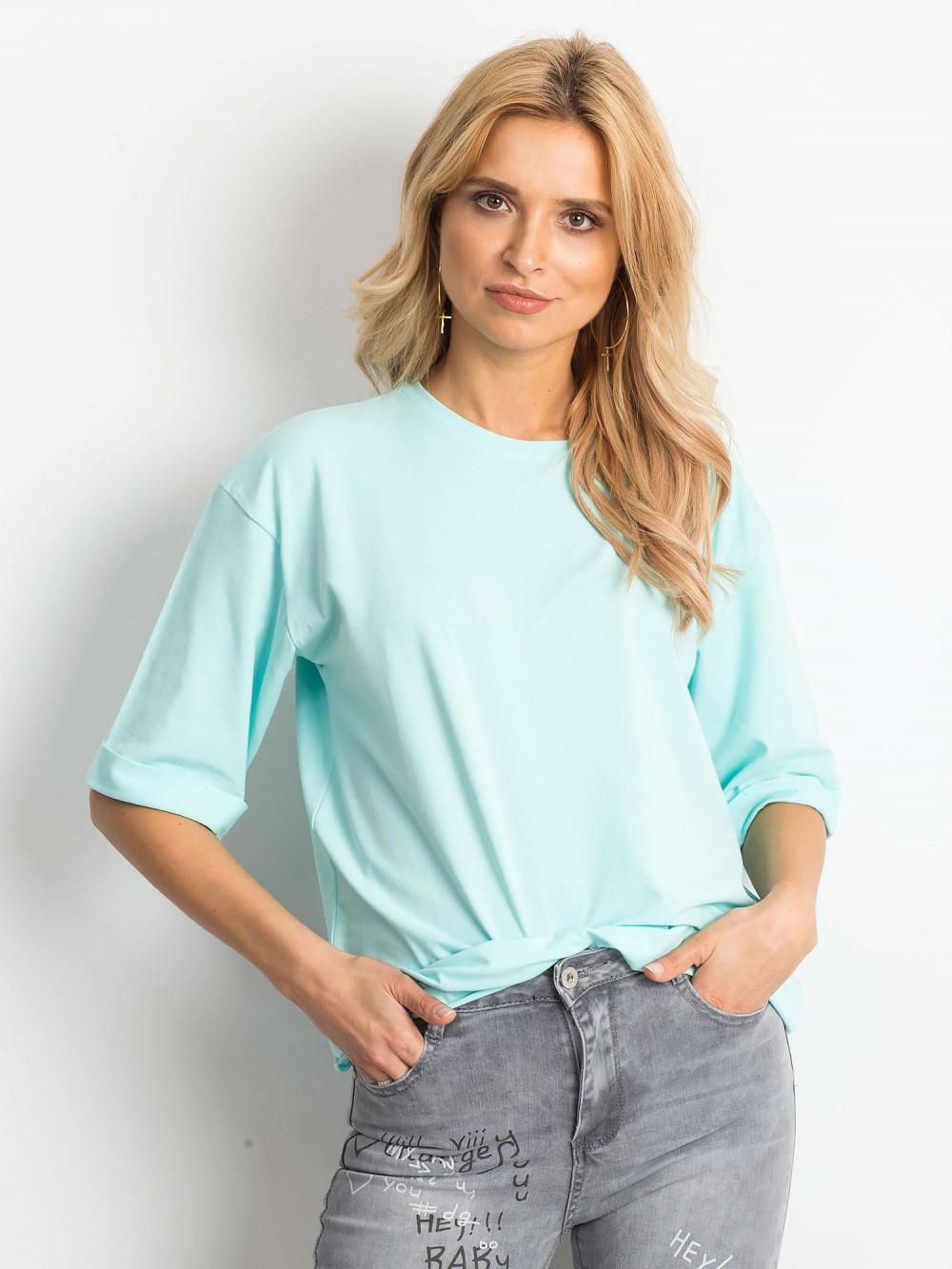 Miętowy oversizeowy t-shirt Gimmie 1