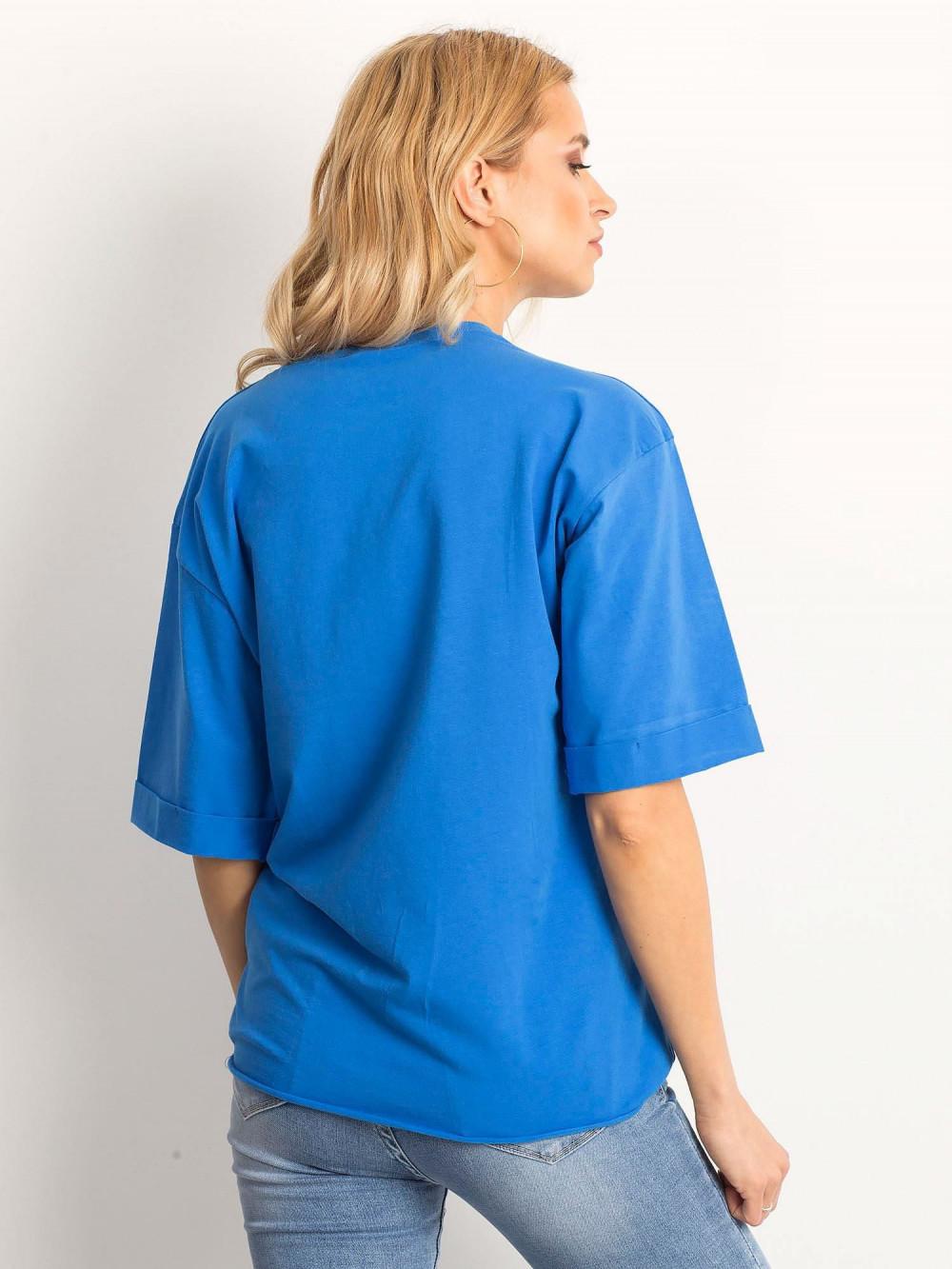 Ciemnoniebieski oversizeowy t-shirt Gimmie 4