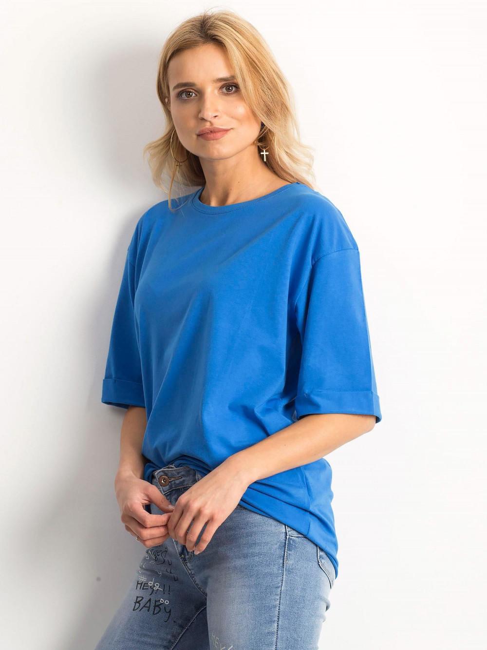 Ciemnoniebieski oversizeowy t-shirt Gimmie 2