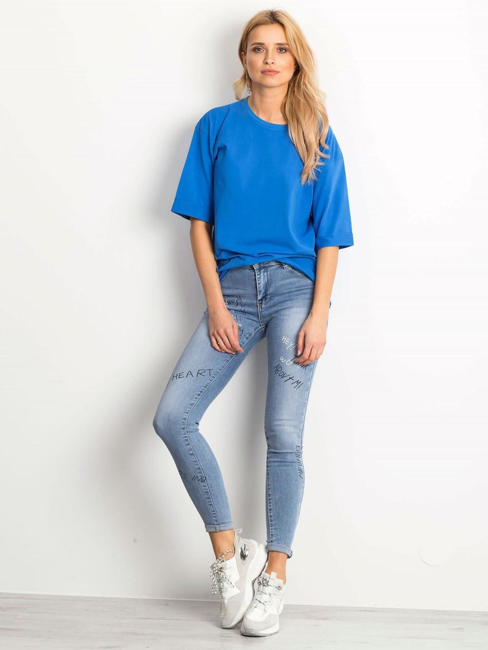 Ciemnoniebieski oversizeowy t-shirt Gimmie 3