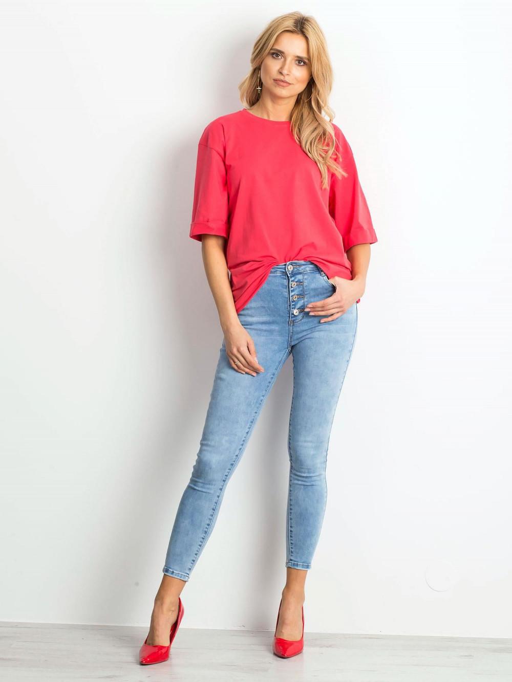 Koralowy oversizeowy t-shirt Gimmie 3