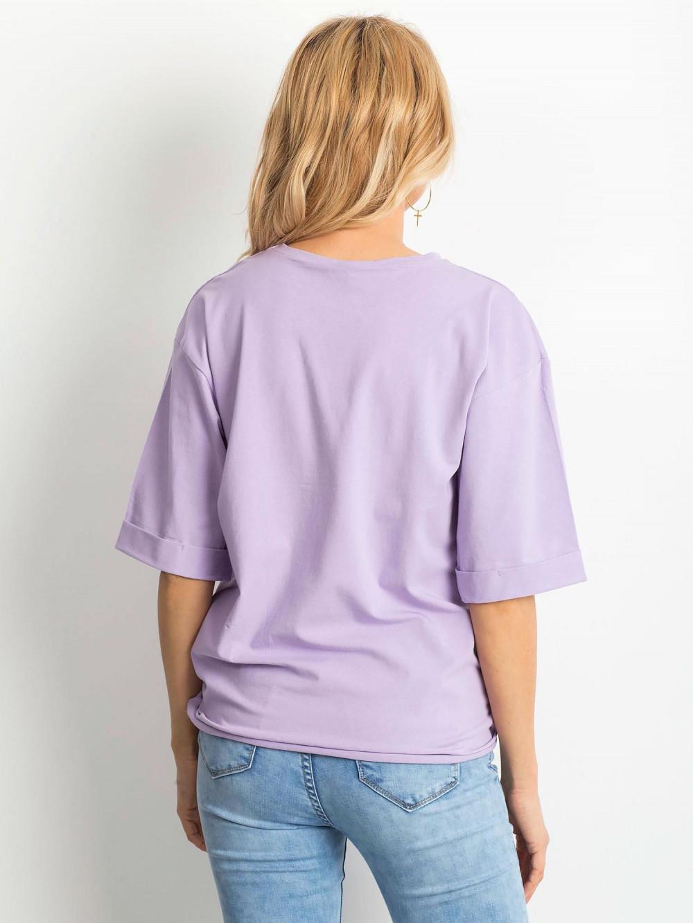 Jasnofioletowy oversizeowy t-shirt Gimmie 4