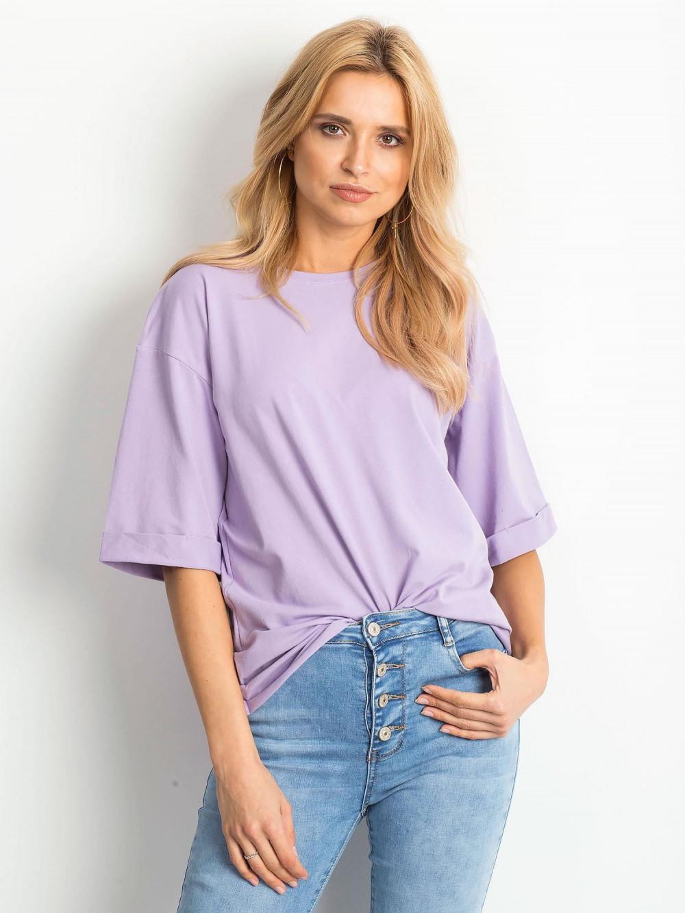 Jasnofioletowy oversizeowy t-shirt Gimmie 1