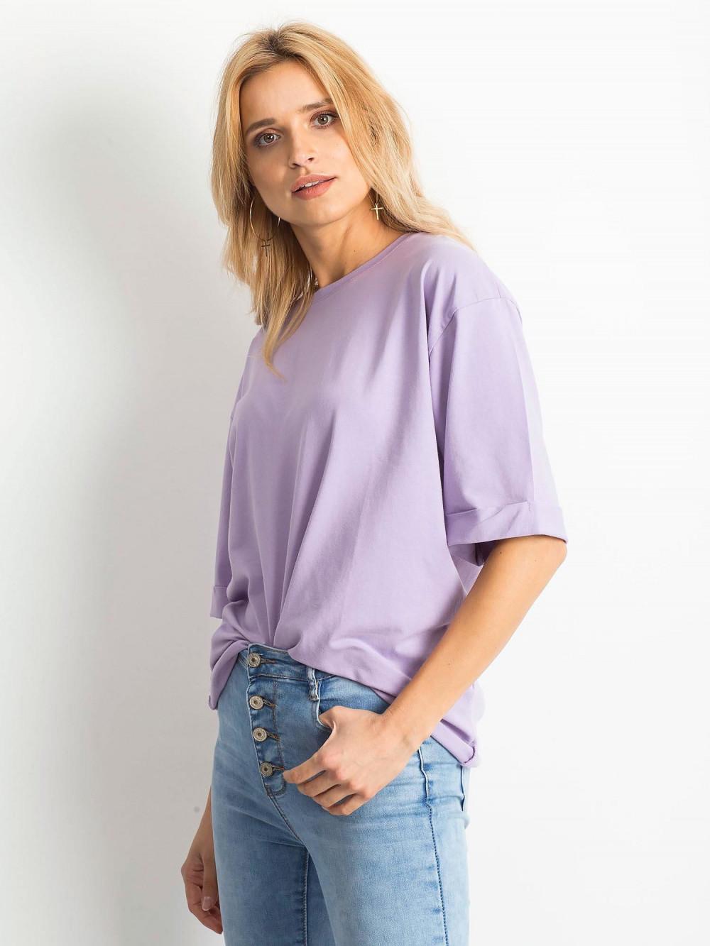 Jasnofioletowy oversizeowy t-shirt Gimmie 2