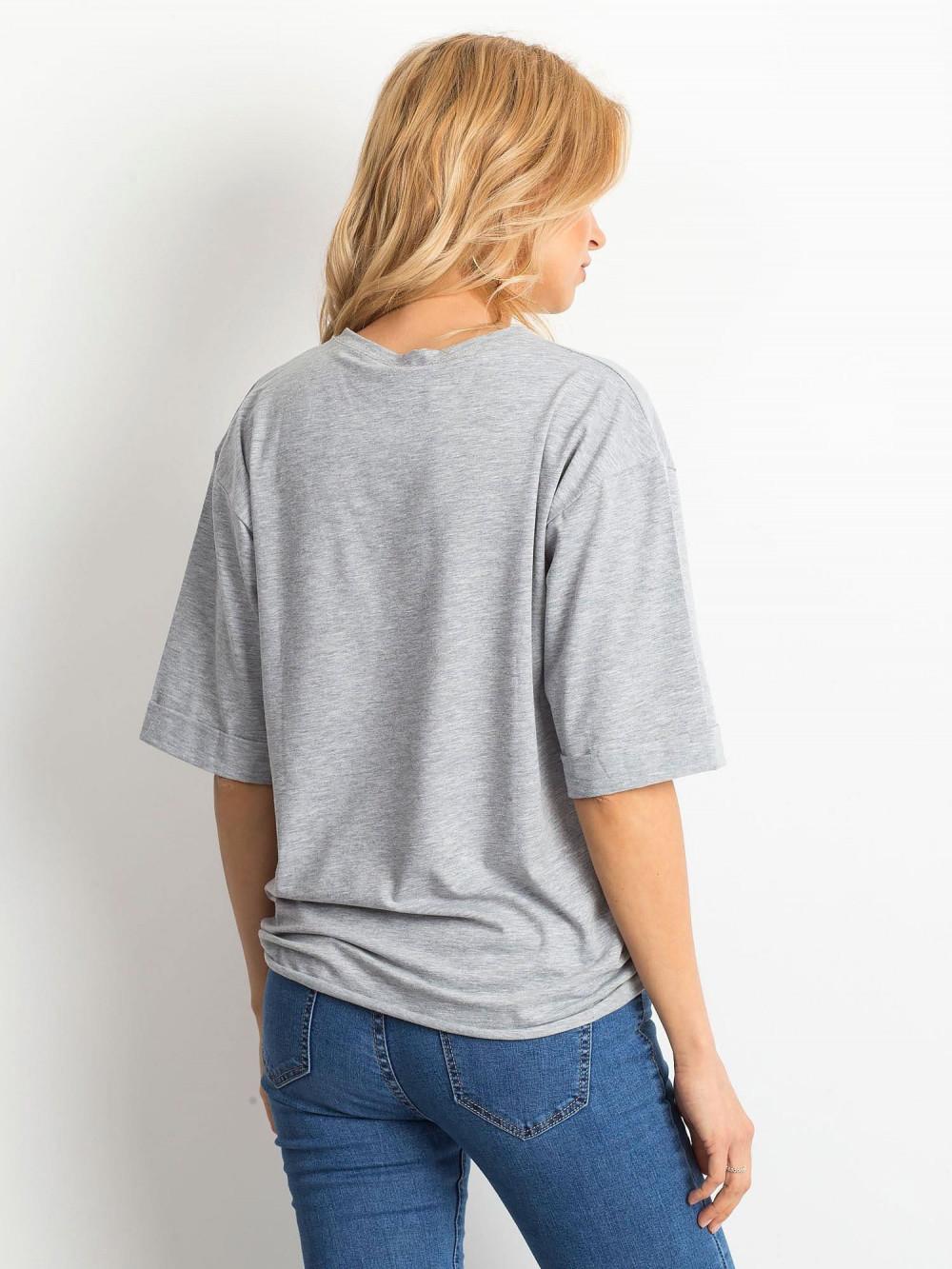 Szary oversizeowy t-shirt Gimmie 4