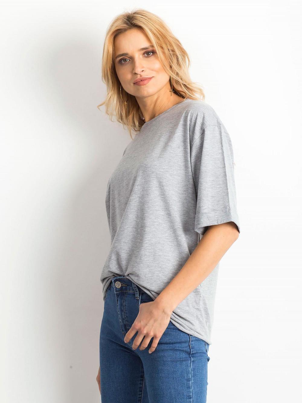 Szary oversizeowy t-shirt Gimmie 2