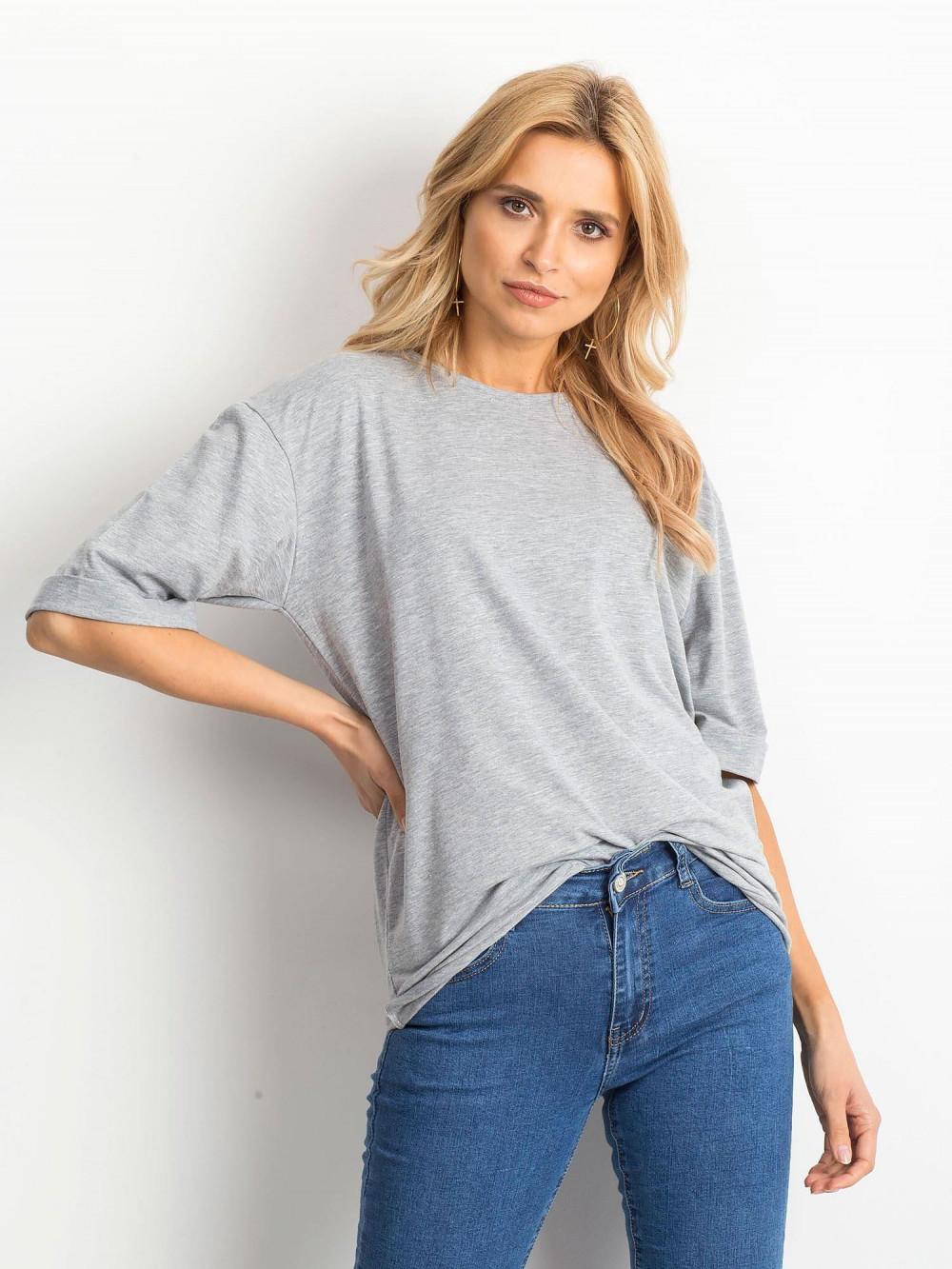 Szary oversizeowy t-shirt Gimmie 1