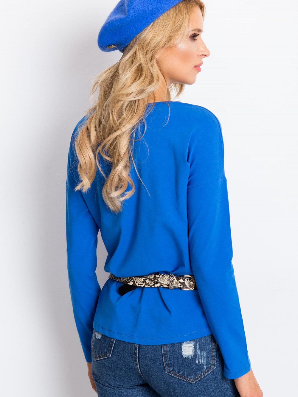Niebieska bluzka z długim rękawem Says 5