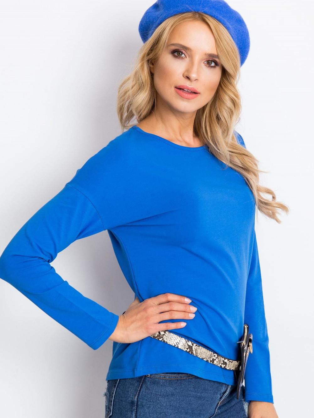 Niebieska bluzka z długim rękawem Says 3