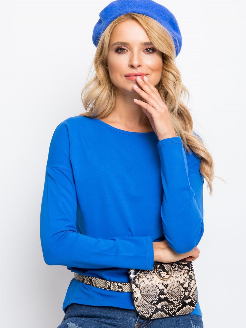 Niebieska bluzka z długim rękawem Says 1