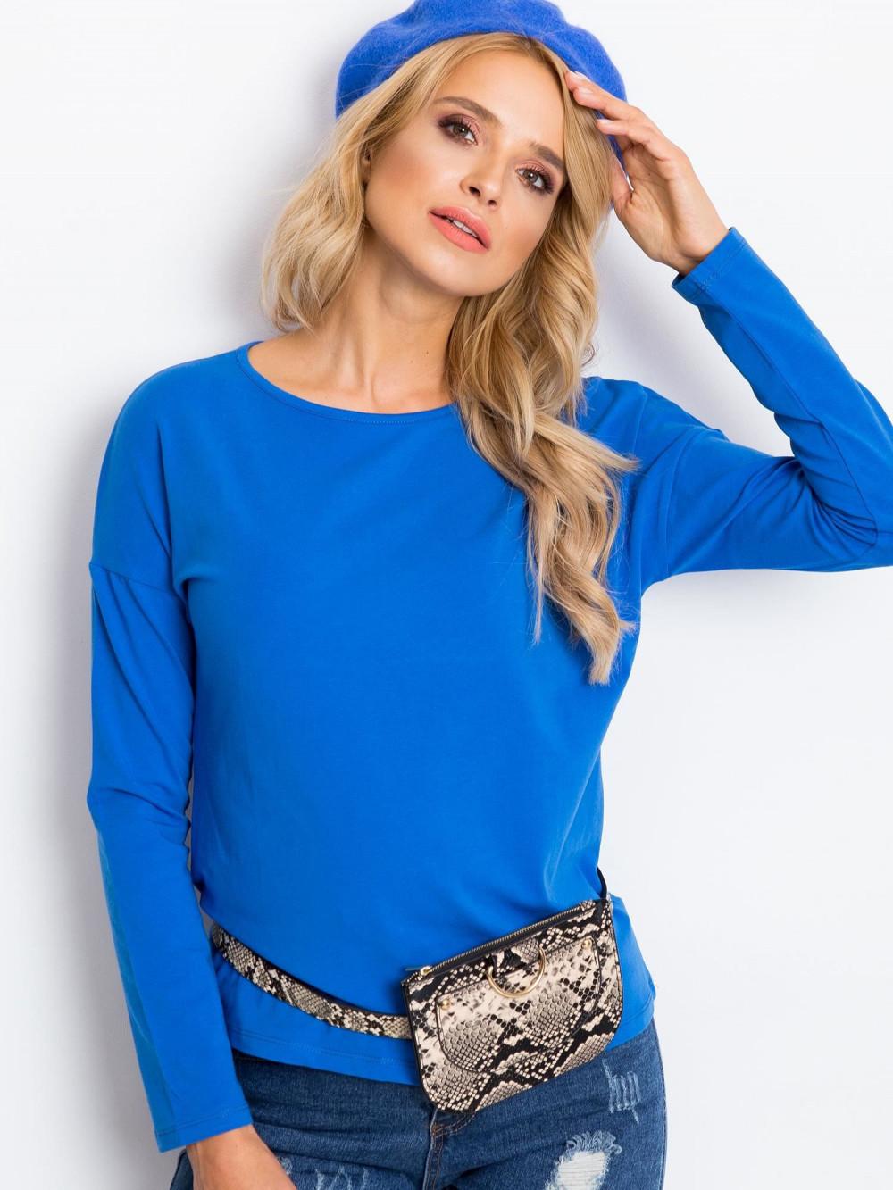 Niebieska bluzka z długim rękawem Says 2