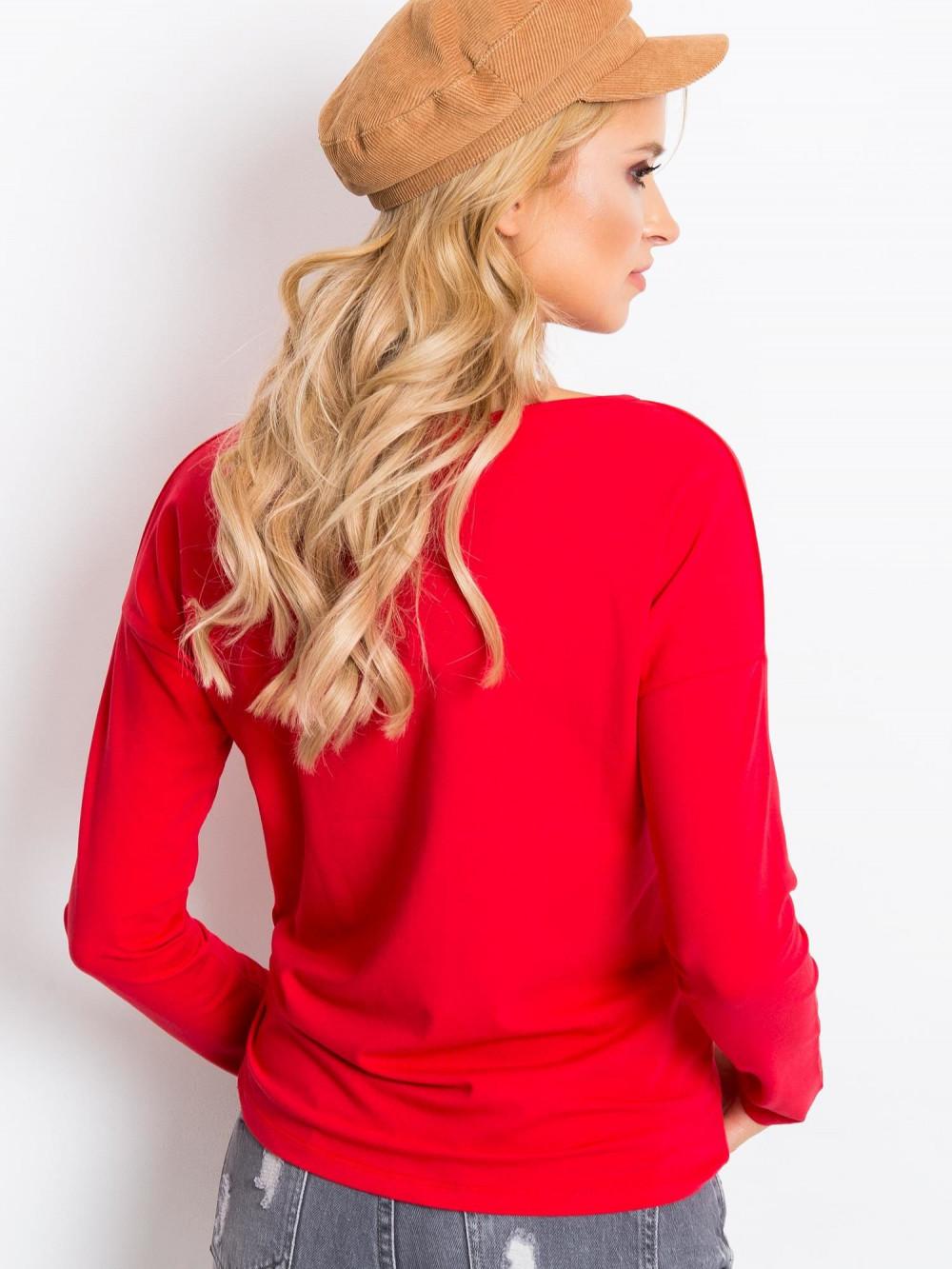 Czerwona bluzka z długim rękawem Says 3
