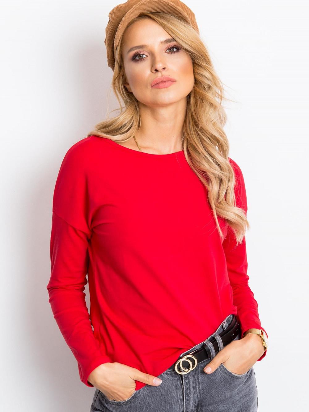 Czerwona bluzka z długim rękawem Says 1
