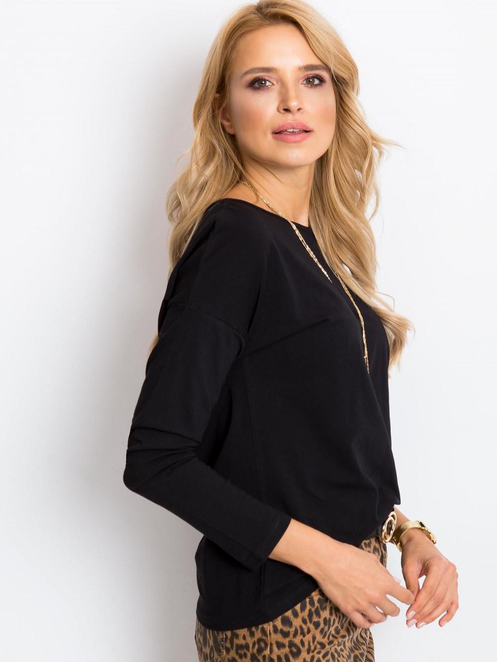 Czarna bluzka z długim rękawem Says 3