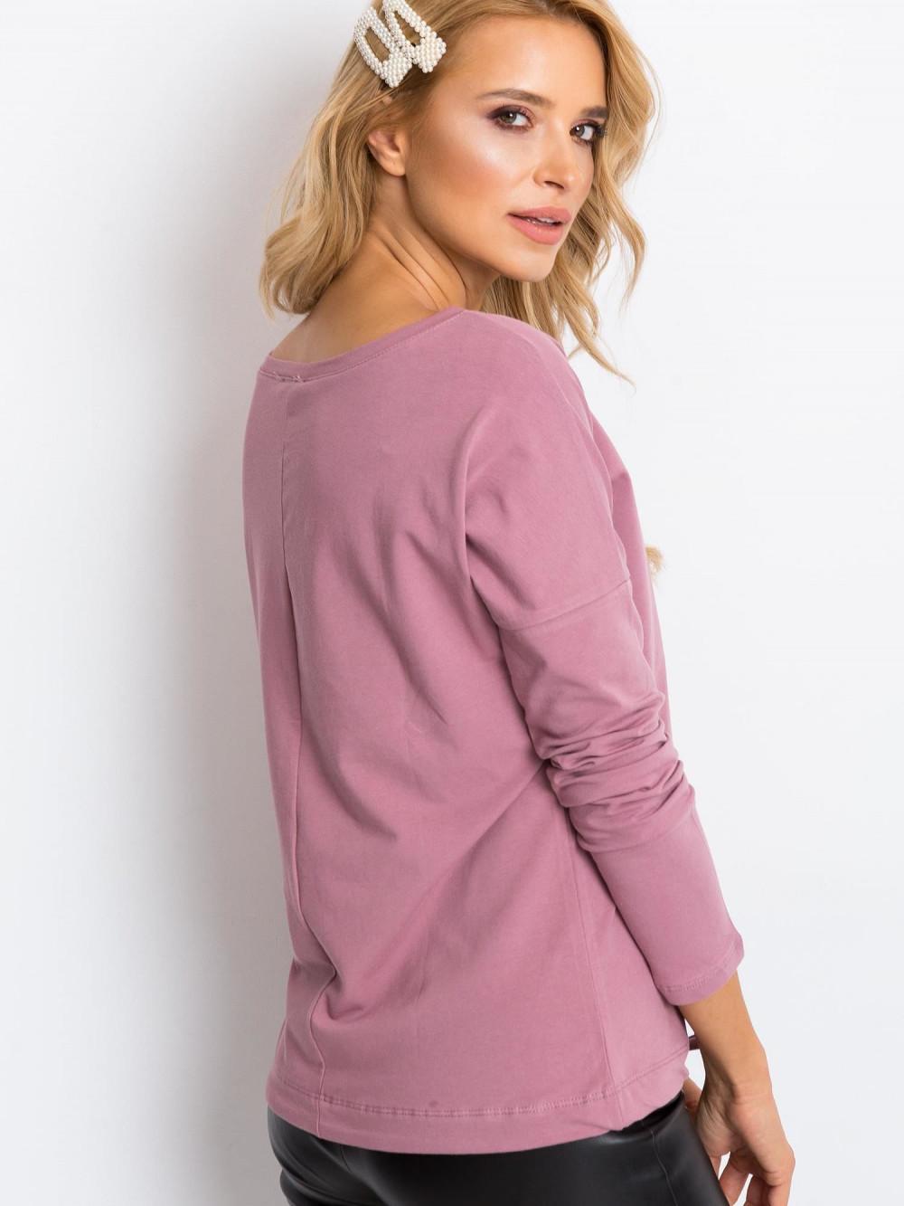 Brudnoróżowa bluzka ze ściągaczem Nadir 5