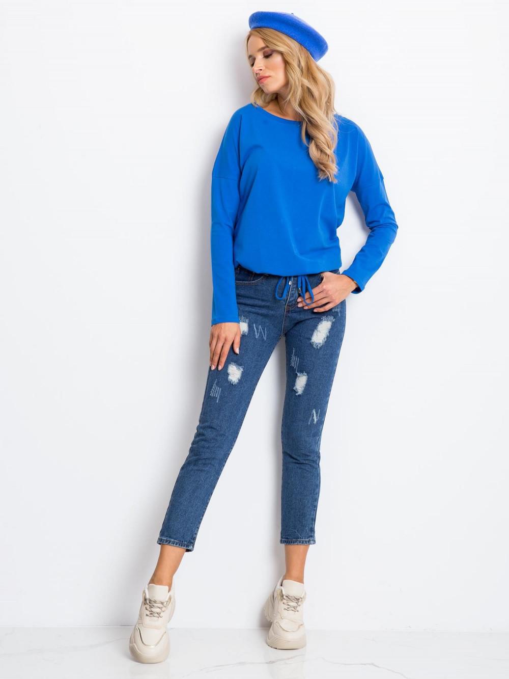 Niebieska bluzka ze ściągaczem Nadir 4
